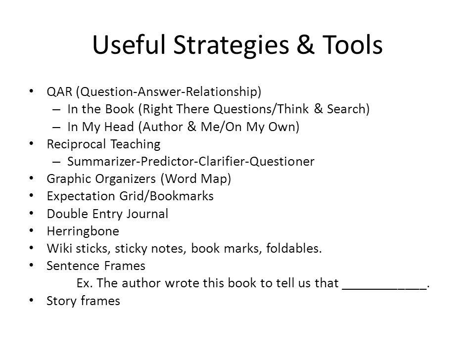 Useful Strategies & Tools