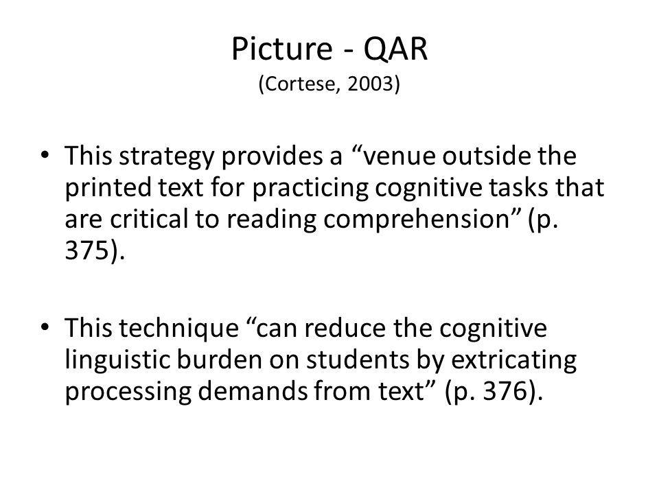 Picture - QAR (Cortese, 2003)