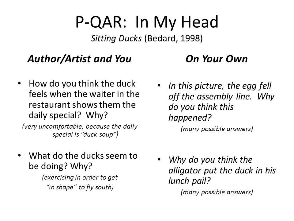 P-QAR: In My Head Sitting Ducks (Bedard, 1998)