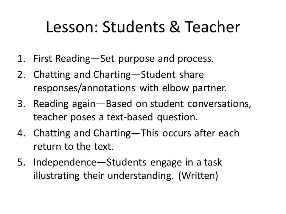 Lesson: Students & Teacher