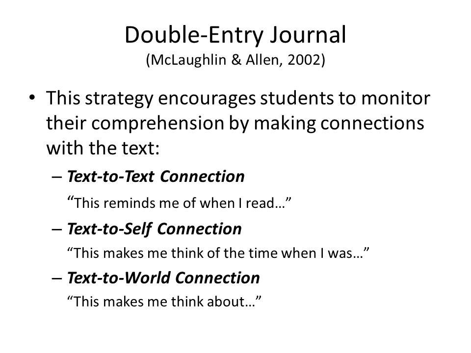 Double-Entry Journal (McLaughlin & Allen, 2002)