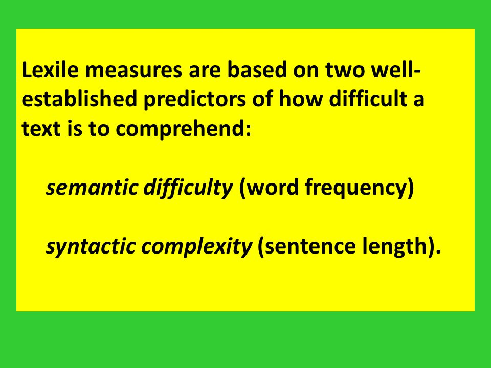 semantic difficulty (word frequency)