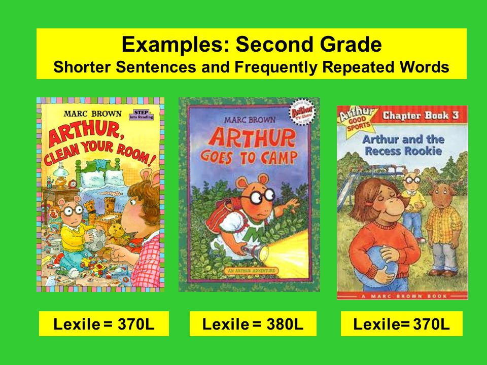 Examples: Second Grade Shorter Sentences and Frequently Repeated Words