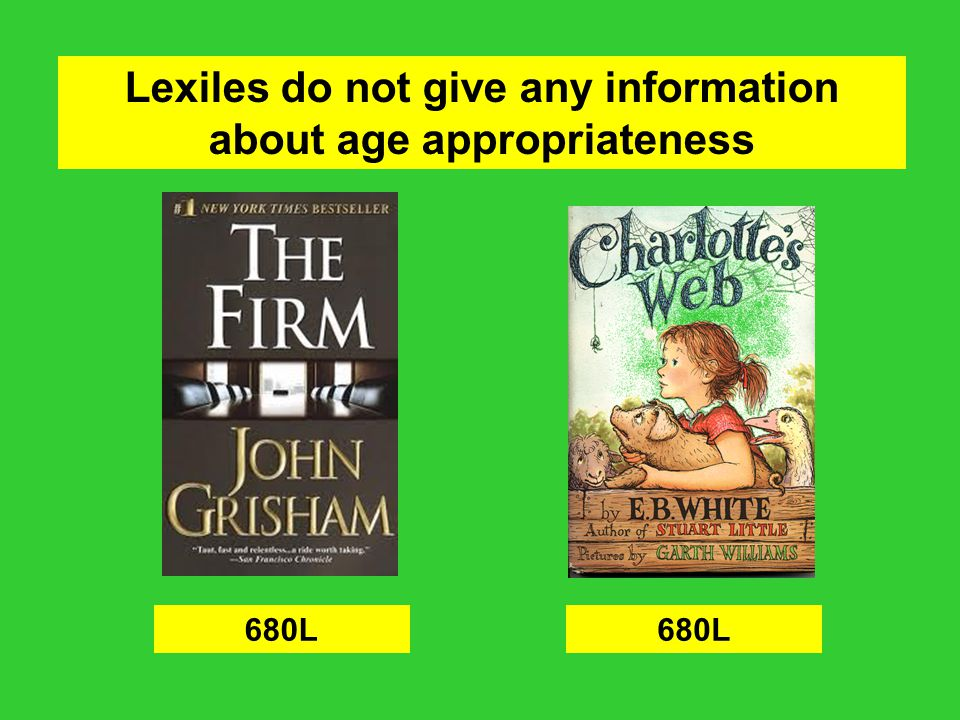 Lexiles do not give any information about age appropriateness