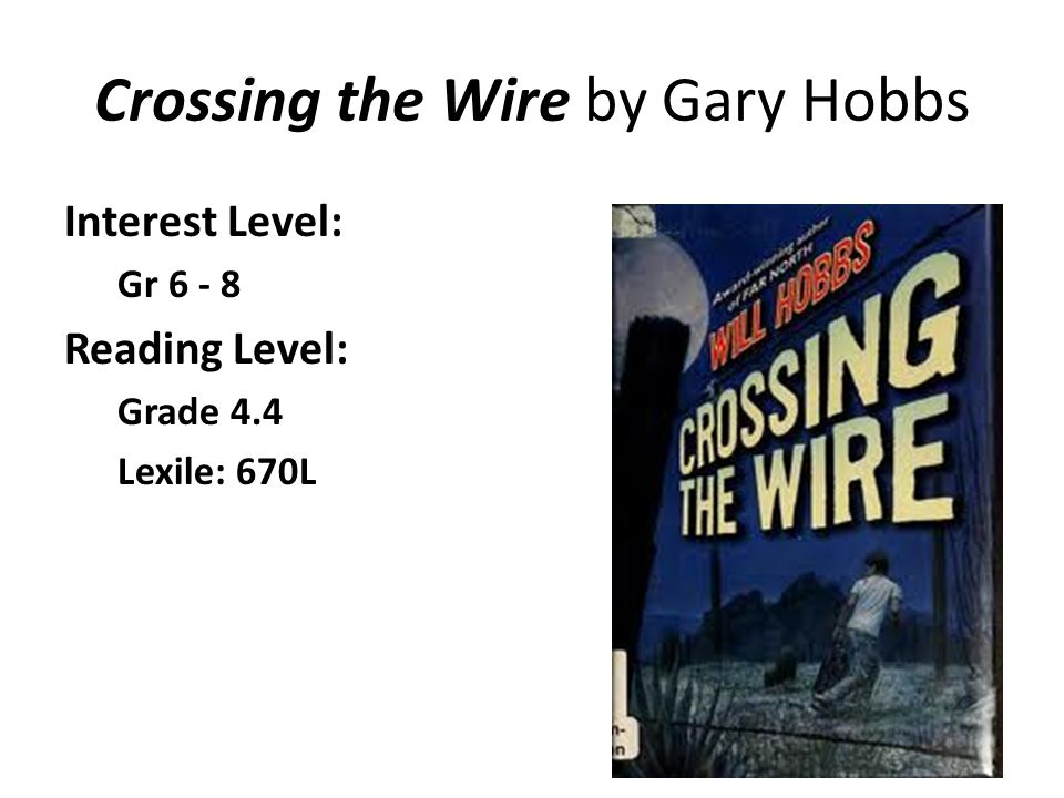Crossing the Wire by Gary Hobbs
