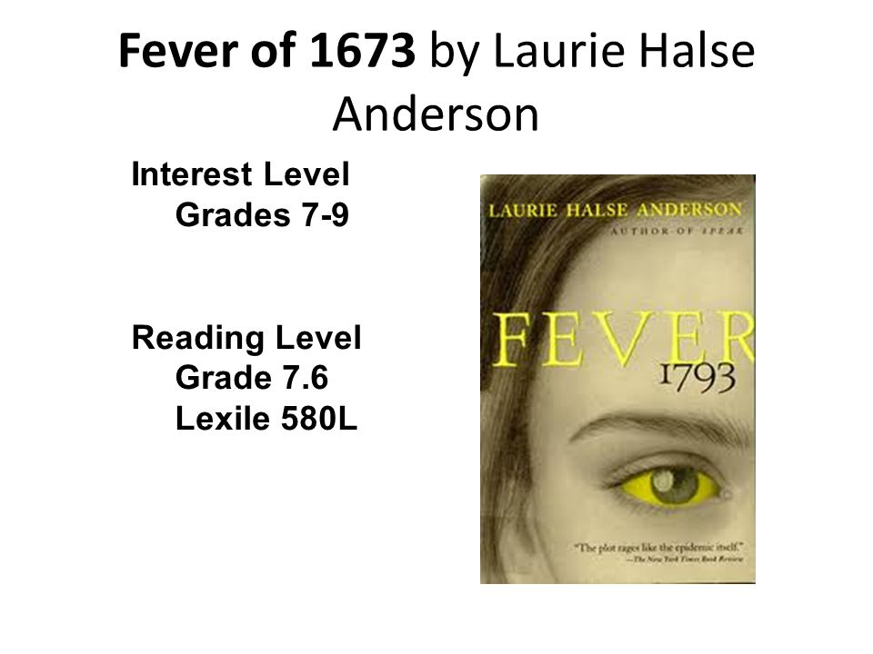 Fever of 1673 by Laurie Halse Anderson