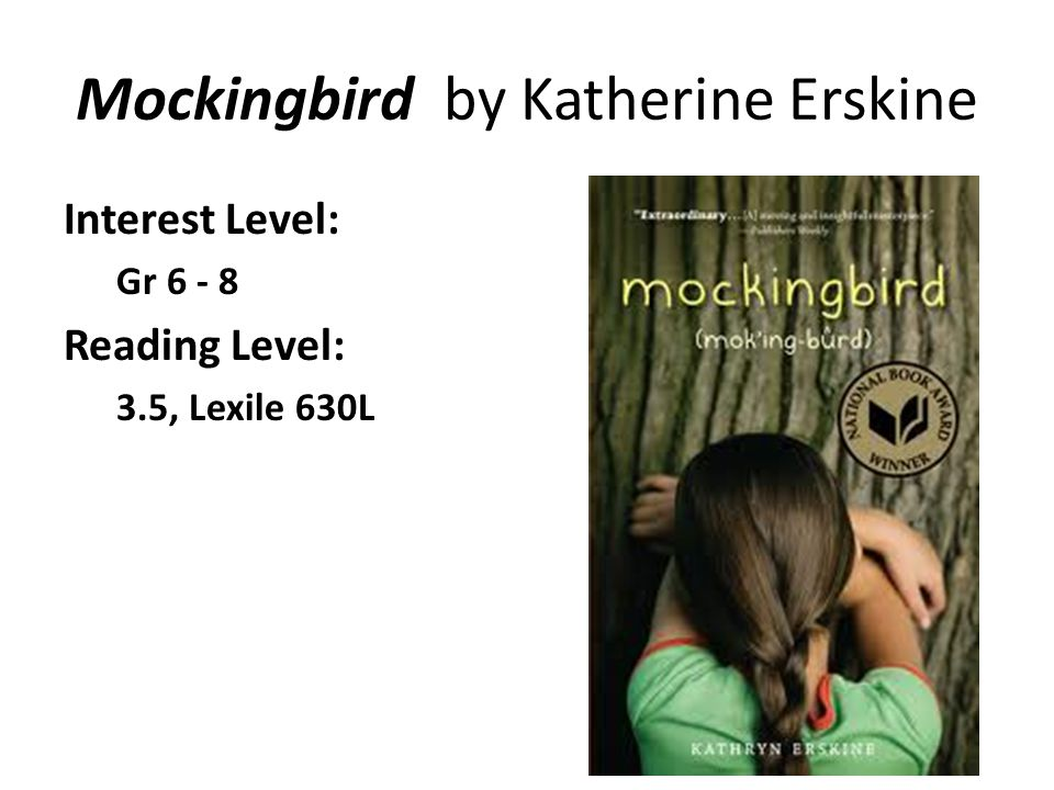 Mockingbird by Katherine Erskine