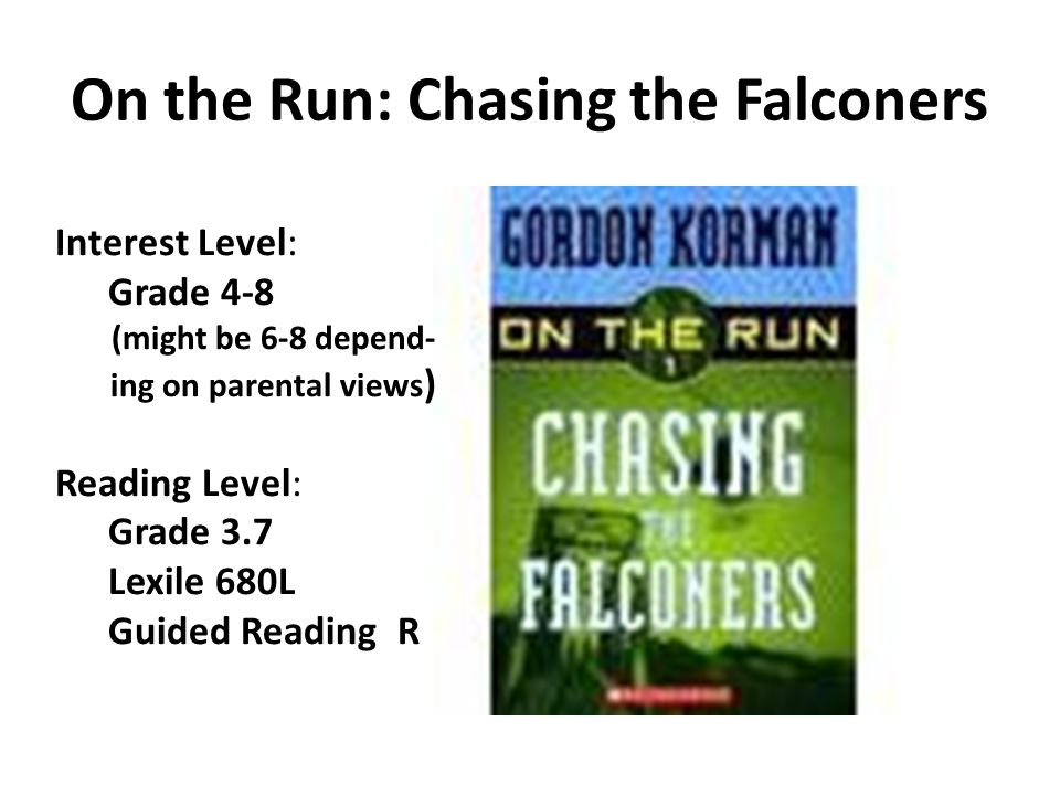 On the Run: Chasing the Falconers