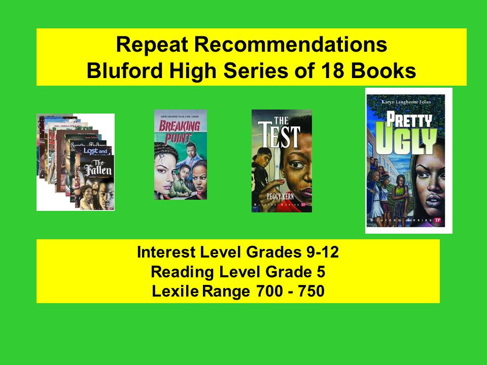 Repeat Recommendations Bluford High Series of 18 Books
