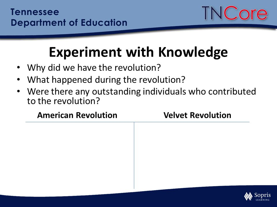Experiment with Knowledge