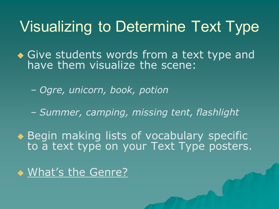 Visualizing to Determine Text Type
