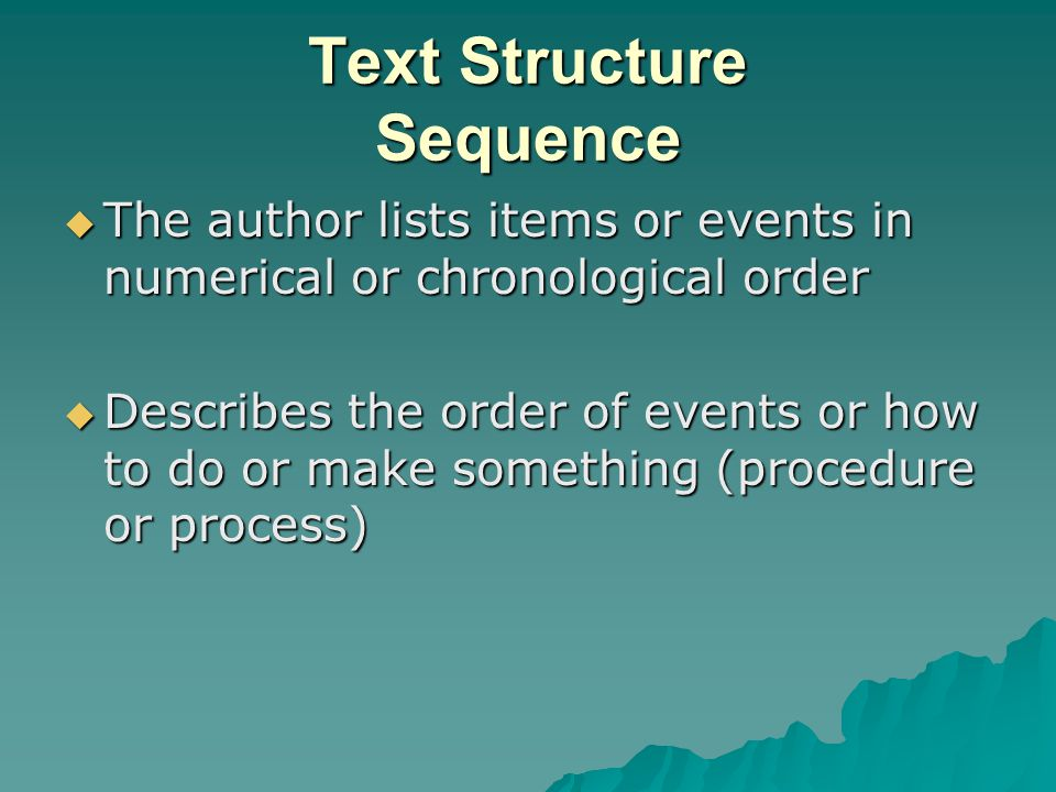 Text Structure Sequence