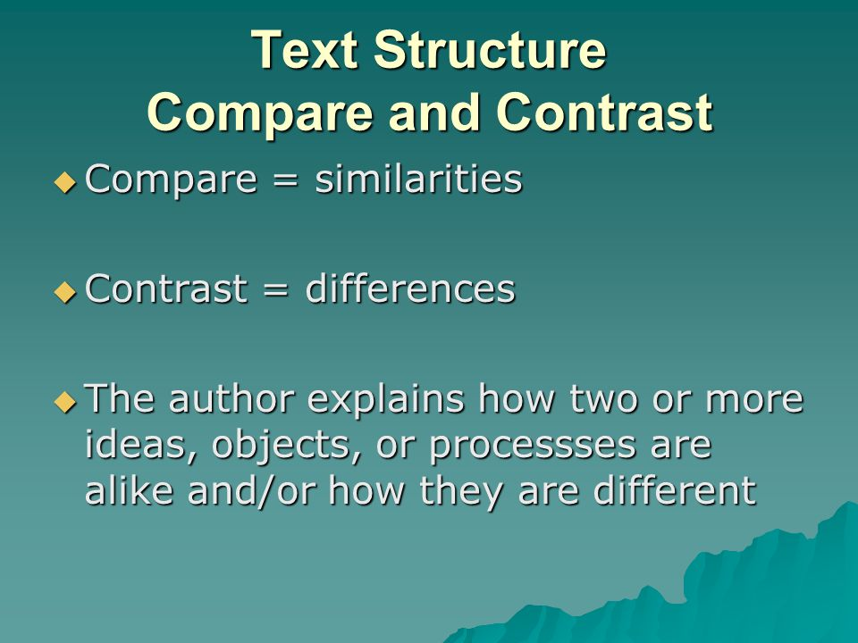 Text Structure Compare and Contrast