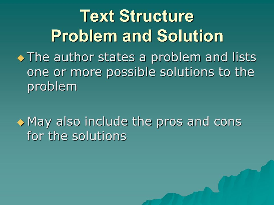 Text Structure Problem and Solution