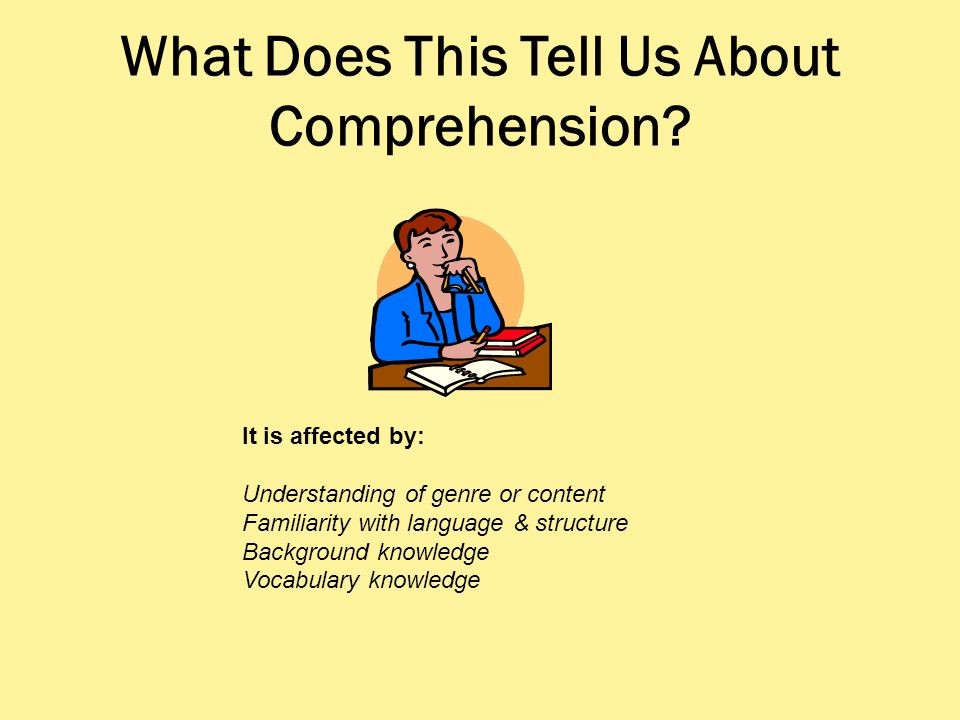 What Does This Tell Us About Comprehension