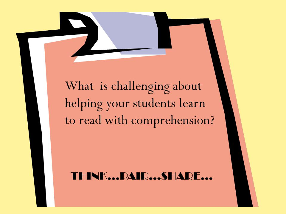What is challenging about helping your students learn to read with comprehension
