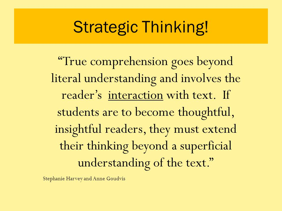 Strategic Thinking!