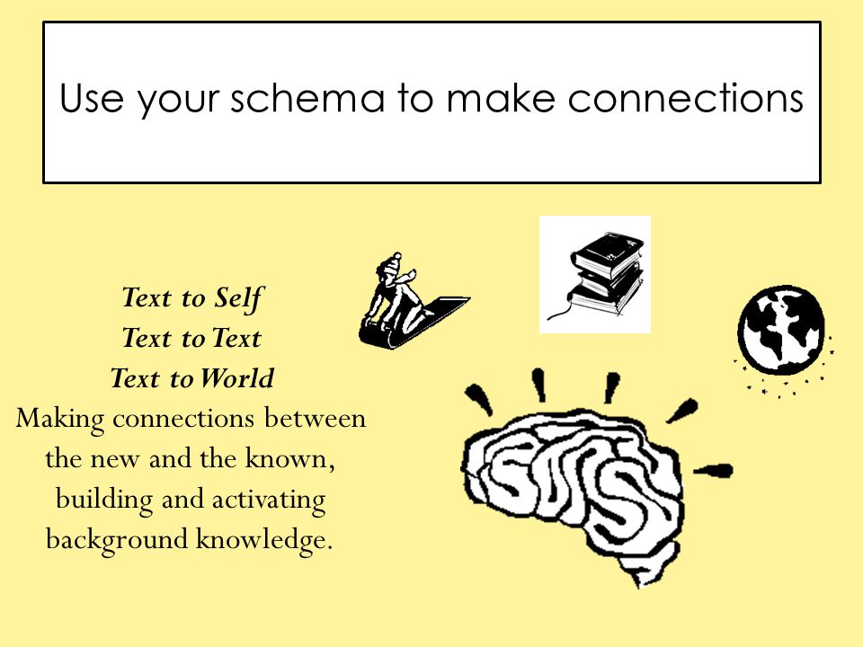 Use your schema to make connections