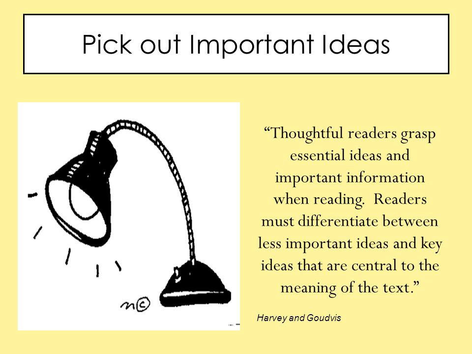 Pick out Important Ideas