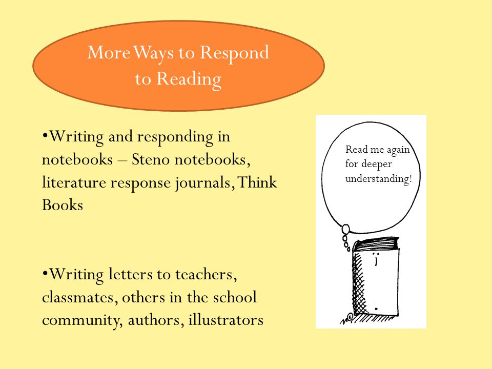 More Ways to Respond to Reading