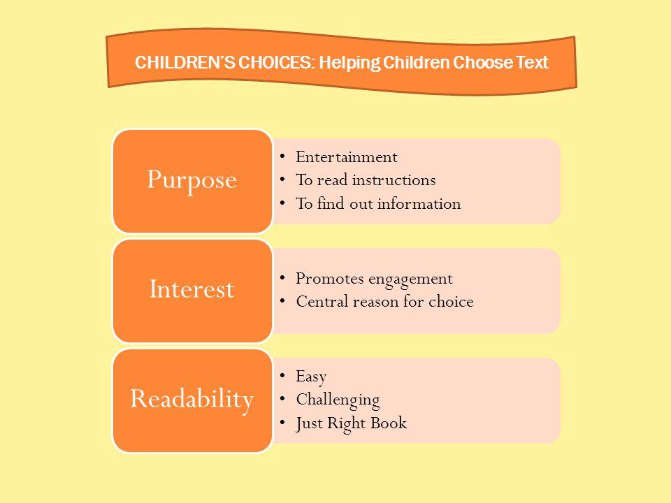 CHILDREN'S CHOICES: Helping Children Choose Text
