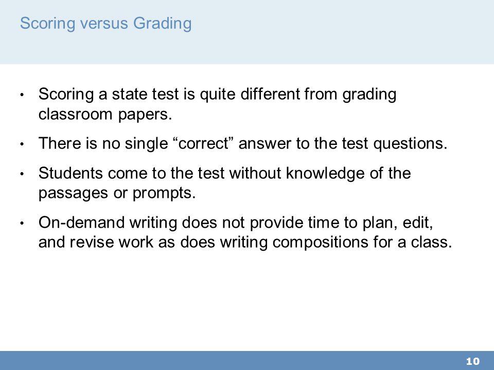 Scoring versus Grading