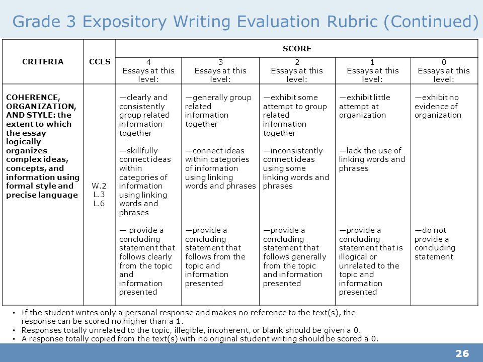 rubrics to evaluate essays