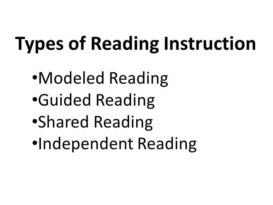 Types of Reading Instruction