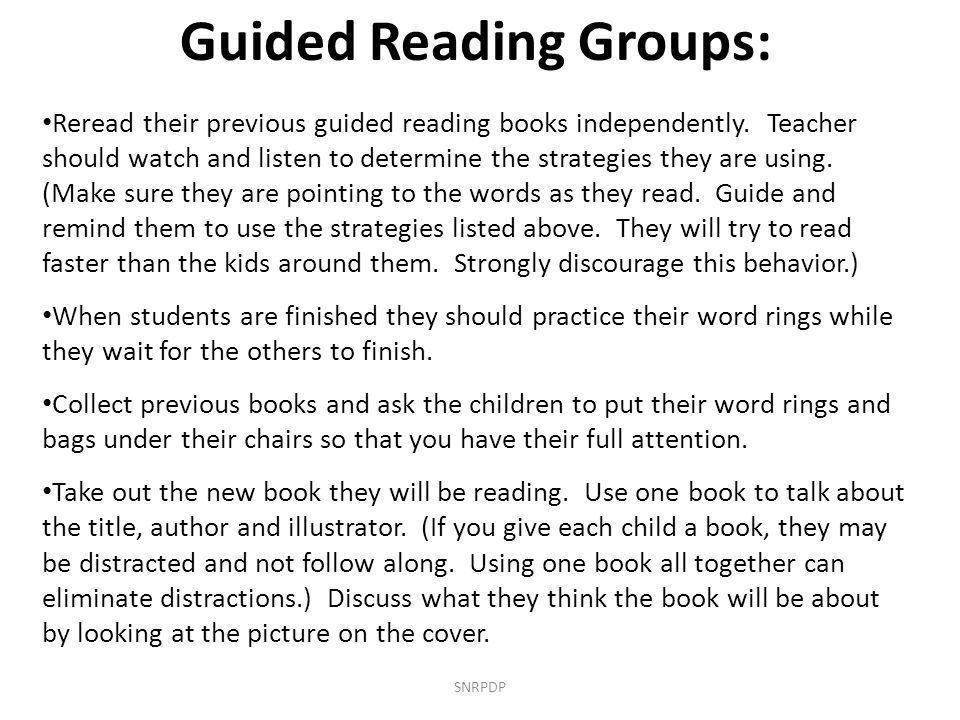 Guided Reading Groups: