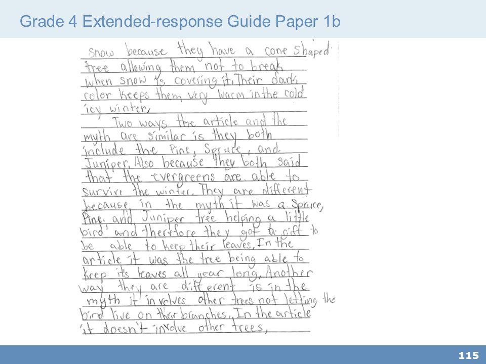 Grade 4 Extended-response Guide Paper 1b