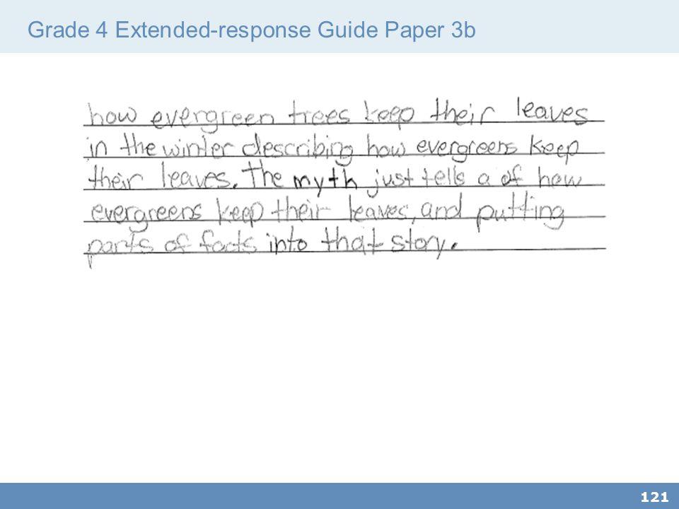 Grade 4 Extended-response Guide Paper 3b