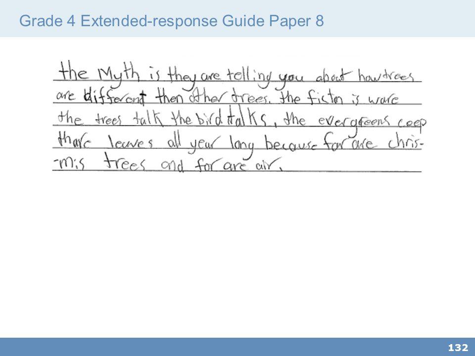 Grade 4 Extended-response Guide Paper 8