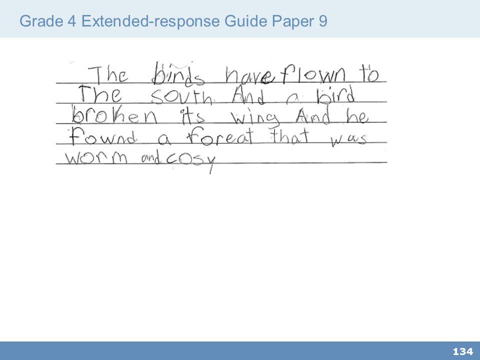 Grade 4 Extended-response Guide Paper 9