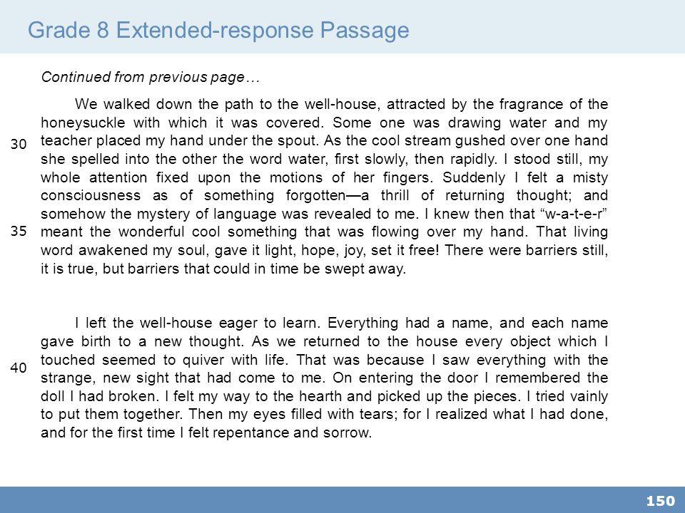 Grade 8 Extended-response Passage