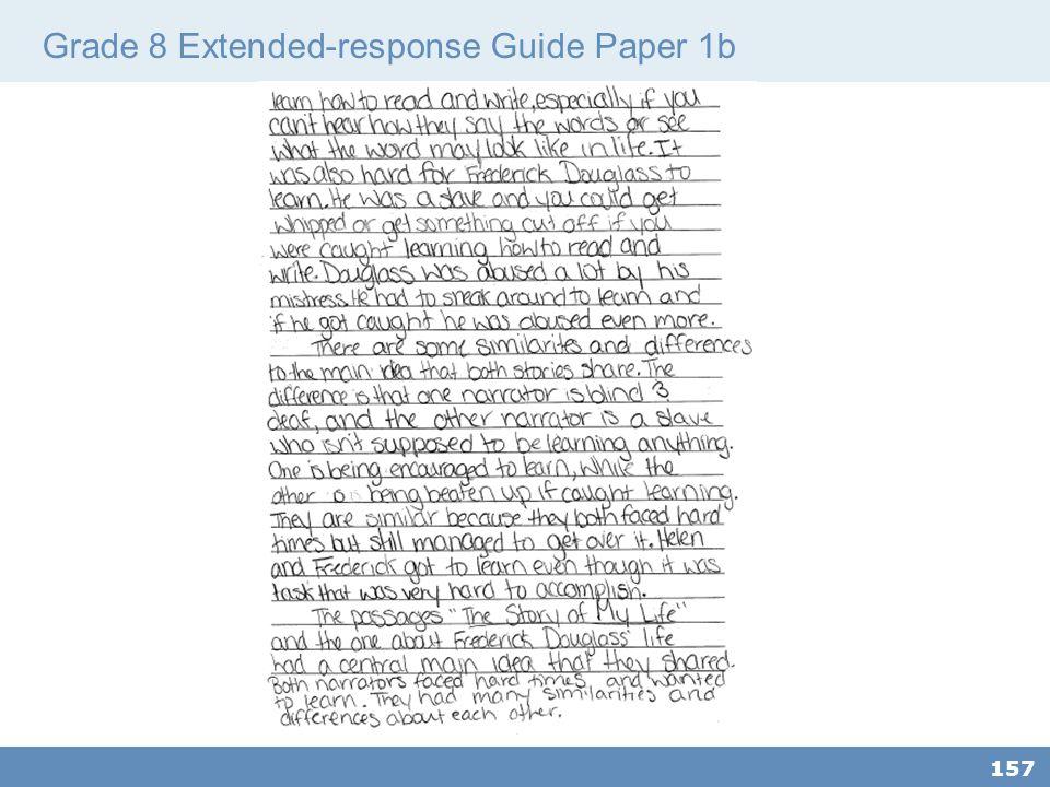 Grade 8 Extended-response Guide Paper 1b