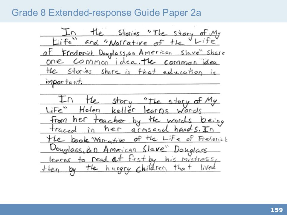Grade 8 Extended-response Guide Paper 2a