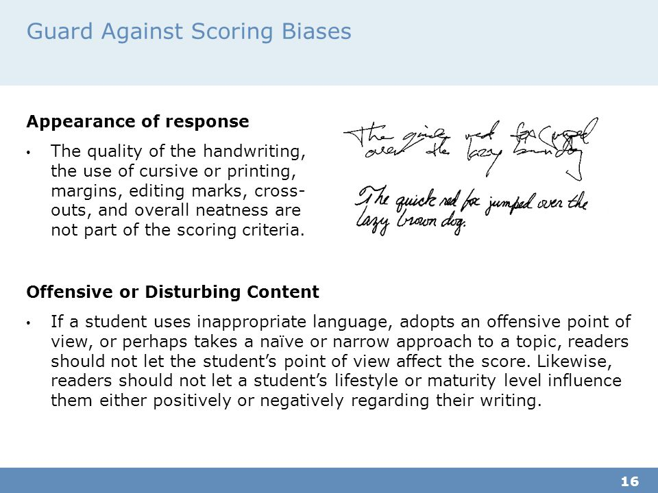 Guard Against Scoring Biases