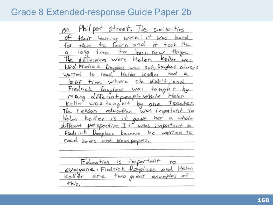 Grade 8 Extended-response Guide Paper 2b