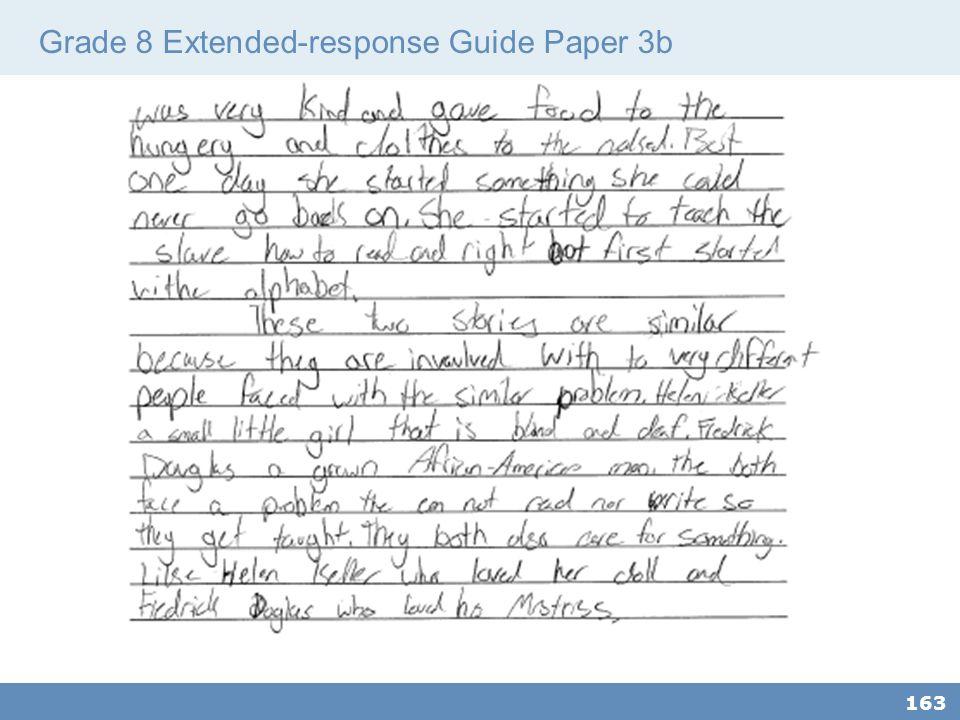 Grade 8 Extended-response Guide Paper 3b