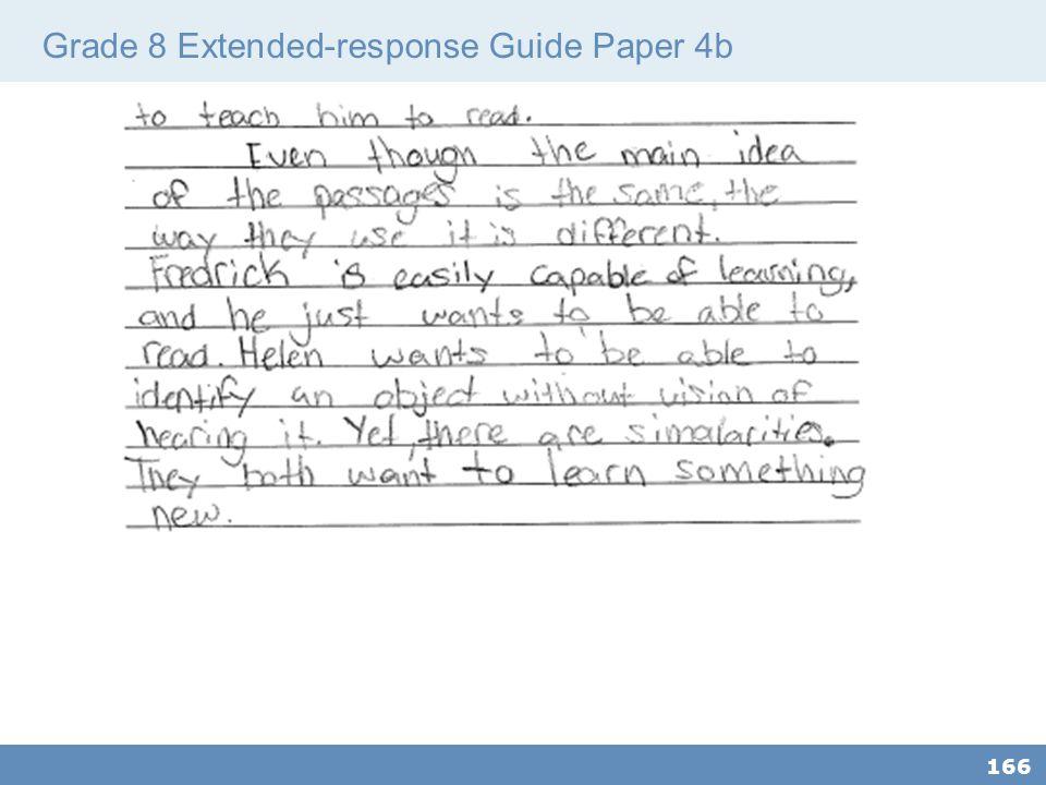 Grade 8 Extended-response Guide Paper 4b