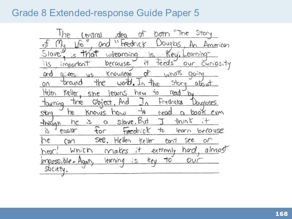 Grade 8 Extended-response Guide Paper 5