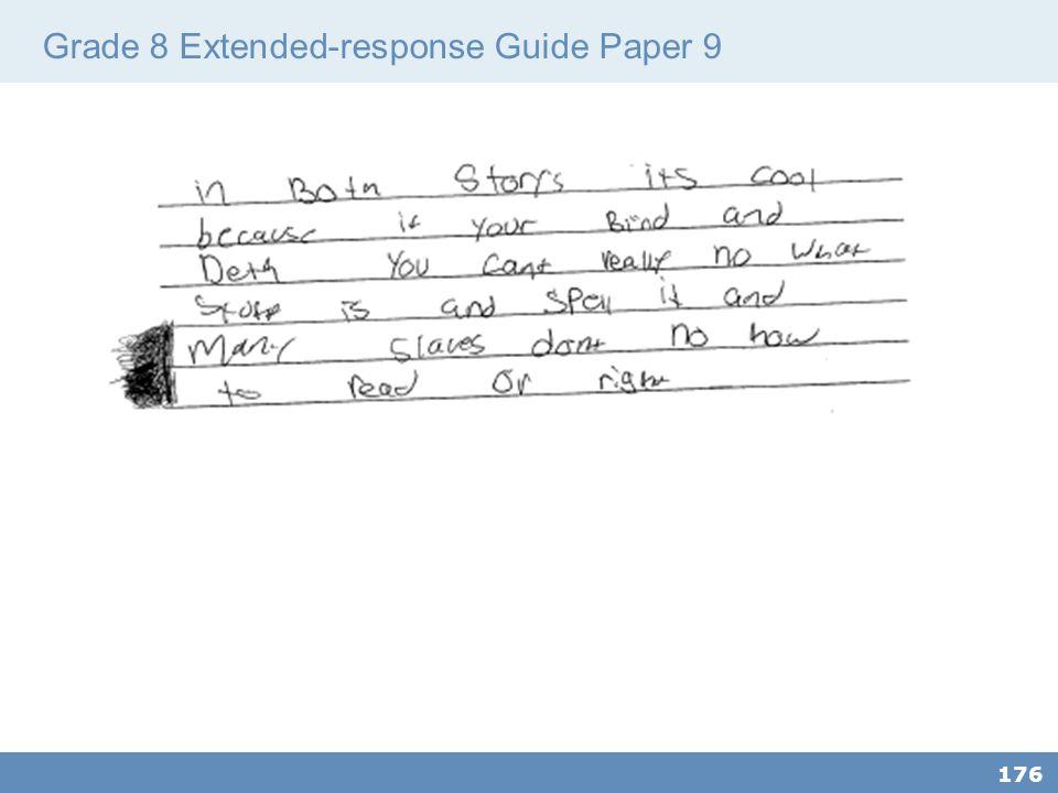 Grade 8 Extended-response Guide Paper 9