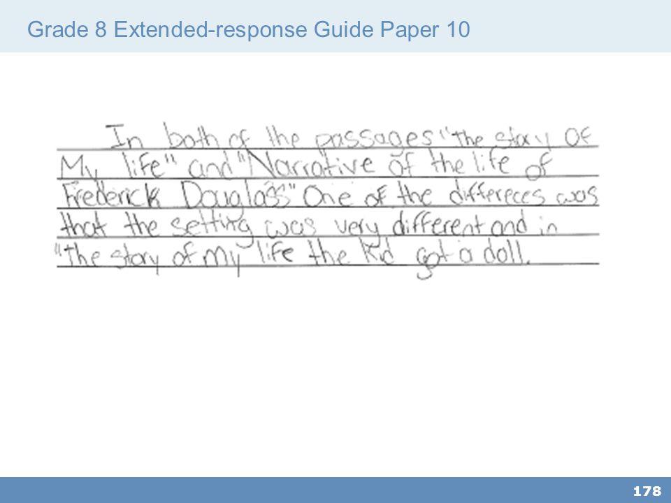 Grade 8 Extended-response Guide Paper 10