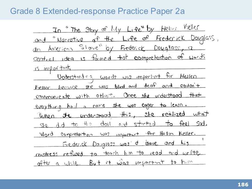 Grade 8 Extended-response Practice Paper 2a