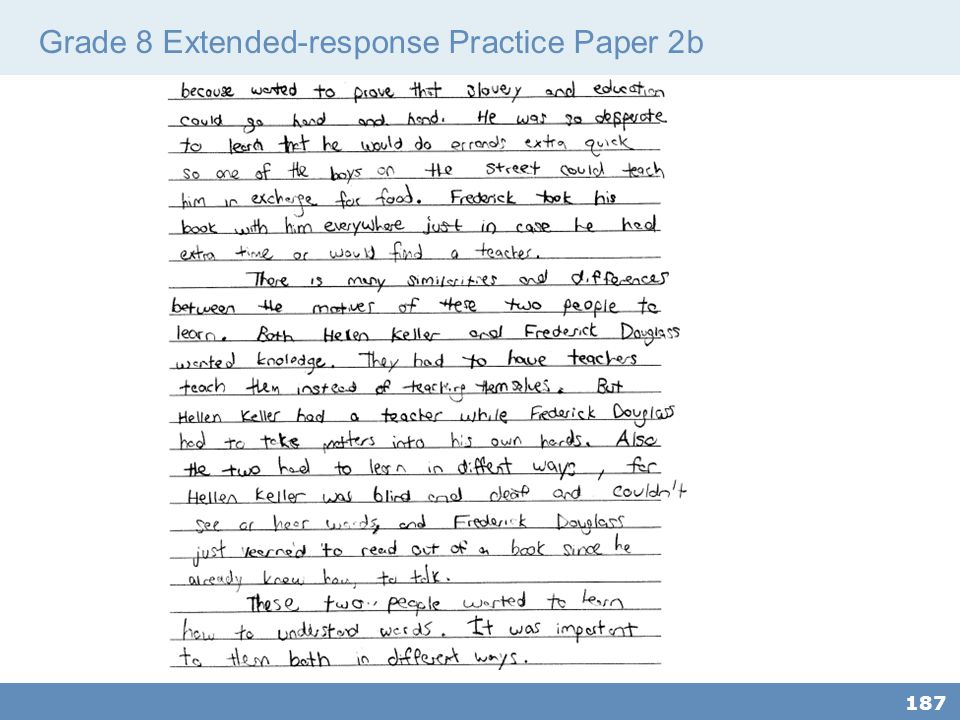 Grade 8 Extended-response Practice Paper 2b