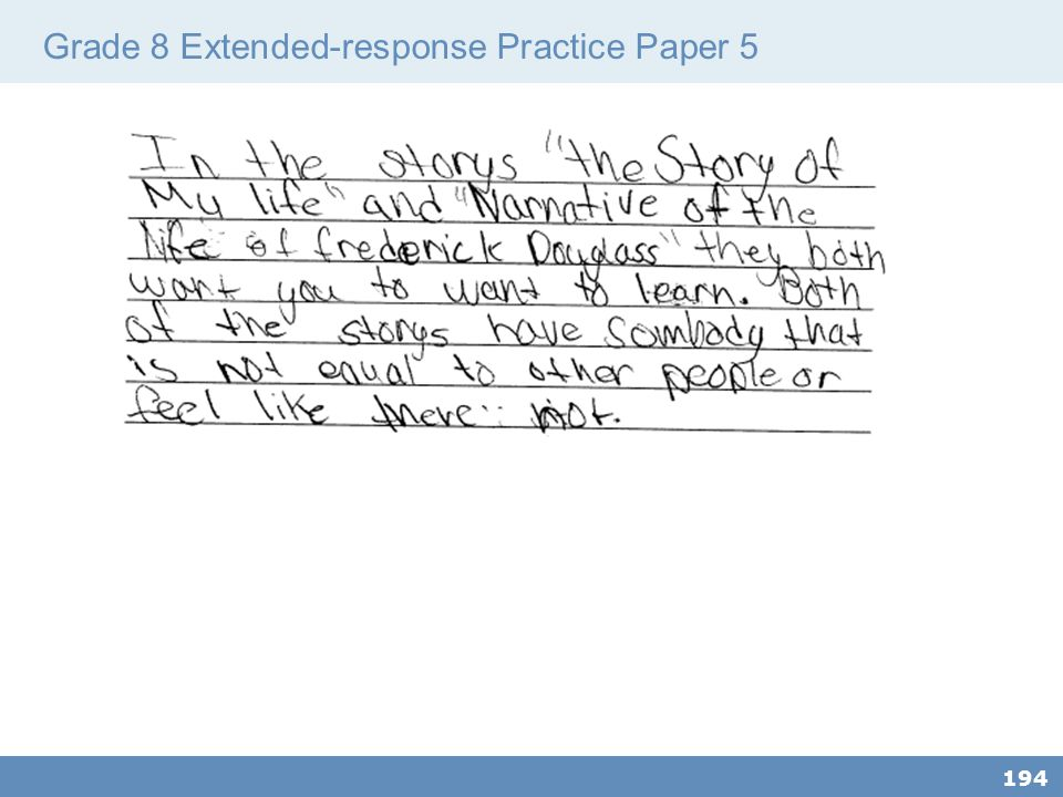 Grade 8 Extended-response Practice Paper 5