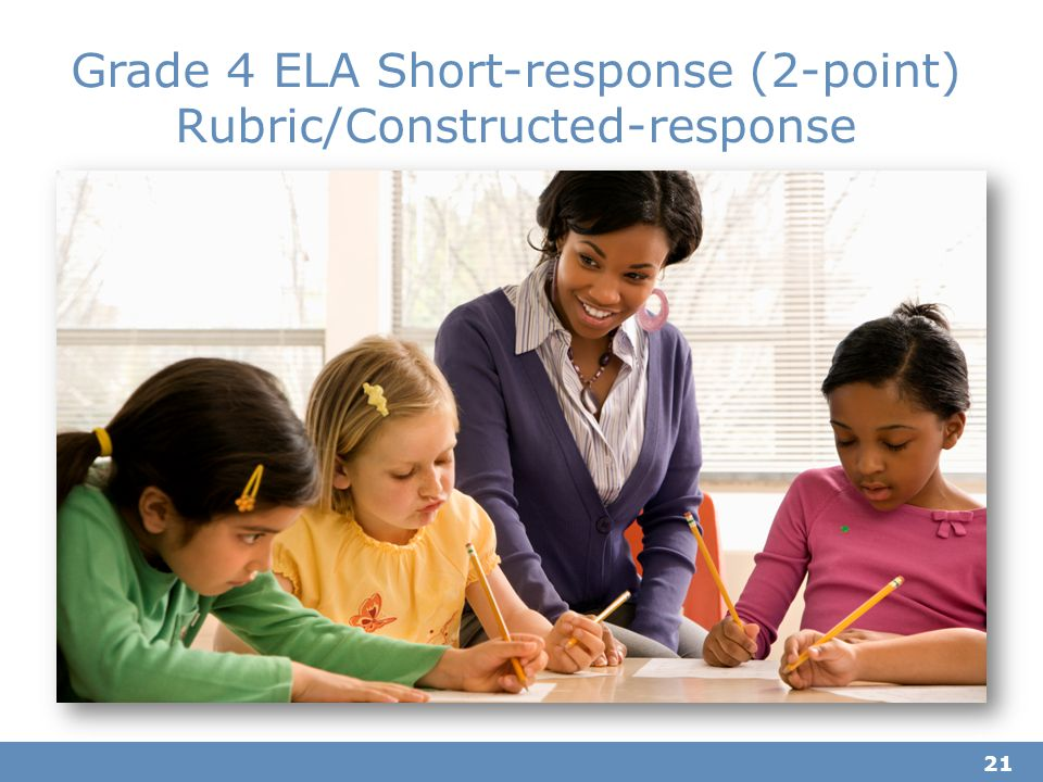 Grade 4 ELA Short-response (2-point) Rubric/Constructed-response