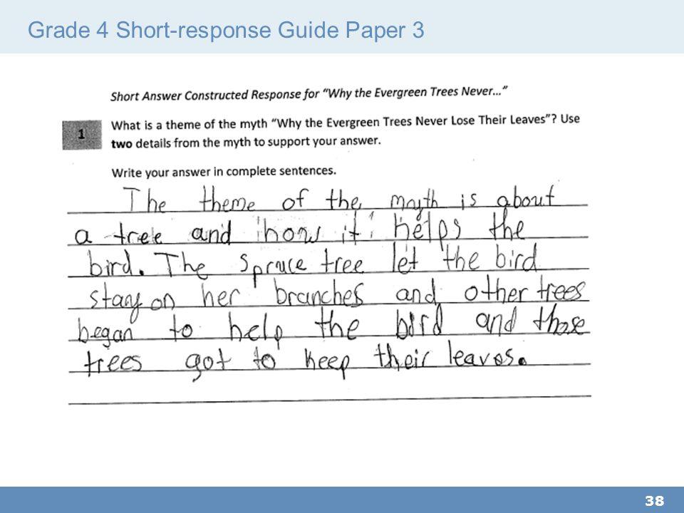 Grade 4 Short-response Guide Paper 3