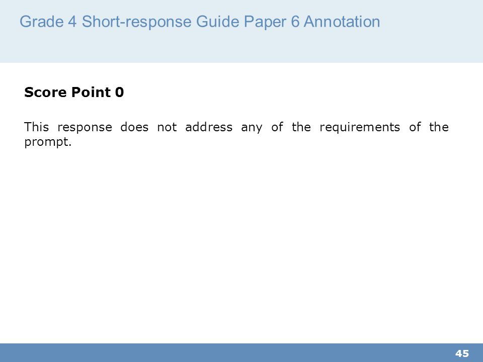 Grade 4 Short-response Guide Paper 6 Annotation