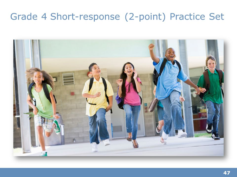 Grade 4 Short-response (2-point) Practice Set